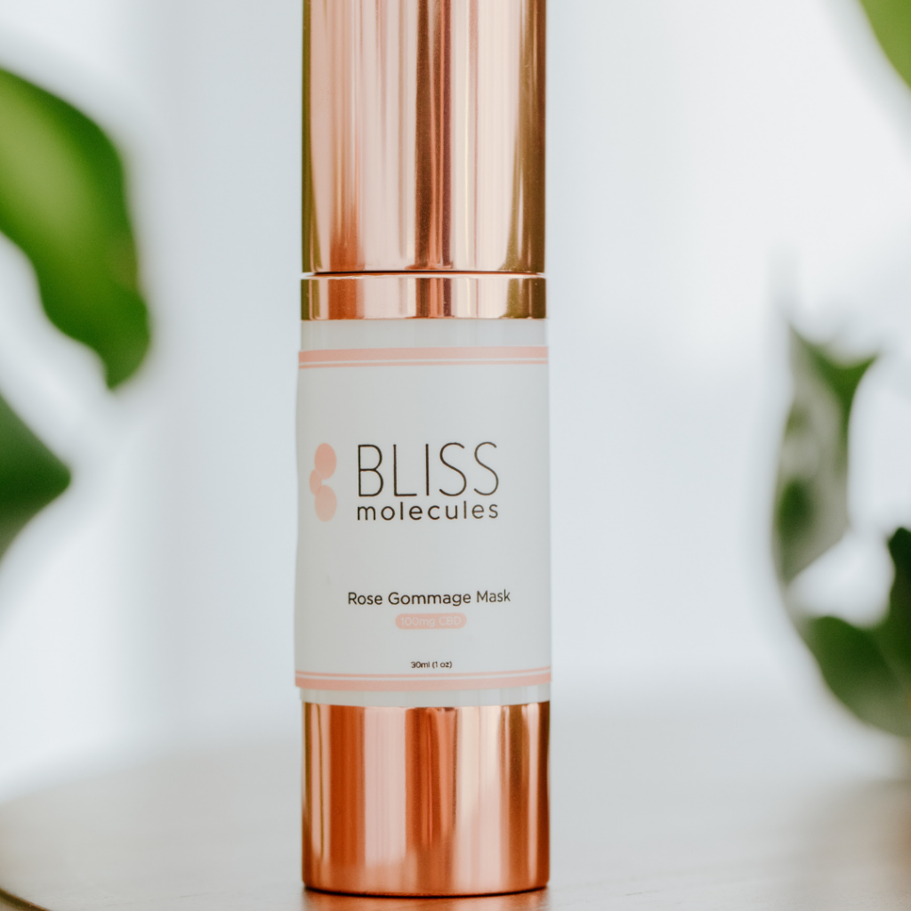 Bliss Molecules rose gommage mask 100mg Hemp Extract